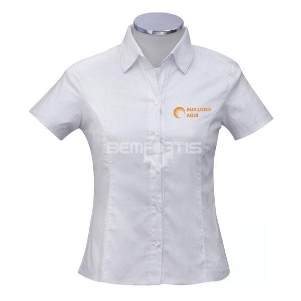 camisa social feminina manga curta