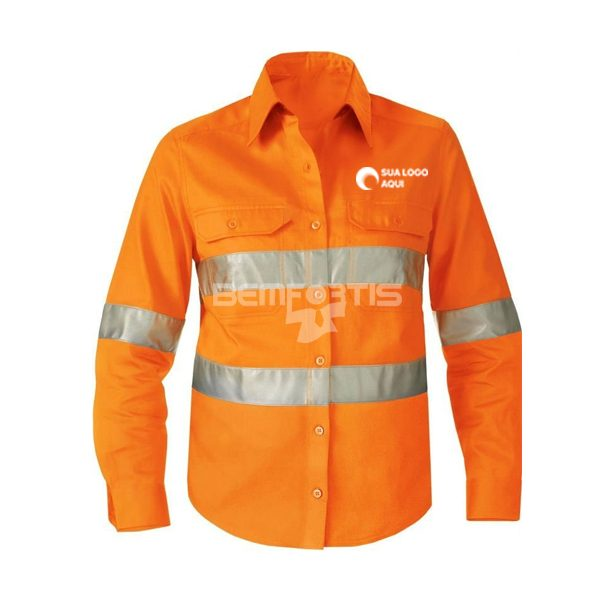 uniforme refletivo laranja